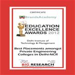 Education Excellence Award 2012