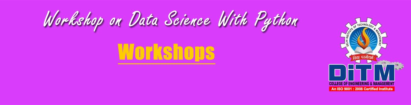 Workshop on Data Science With Python